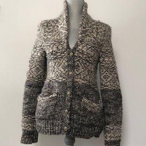 Aritzia Wilfred Free chunky knit sweater cardigan